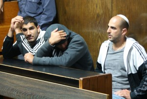 The groom, Dror Alperon (far right) during a court hearing in Tel Aviv in April. (Photo: Ben Hartman)