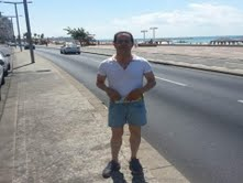 Mansouri on the Tel Aviv beachfront, in a picture released by the Shin Bet.