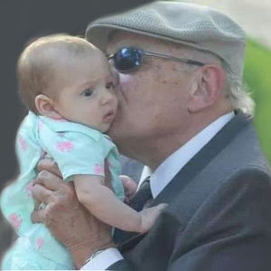 My father, Lee Edward Hartman Jr, with my older daughter at a wedding outside Austin a few months before his death. (Ben Hartman)