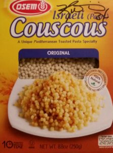 The aforementioned couscous, signed by Ricky Williams.