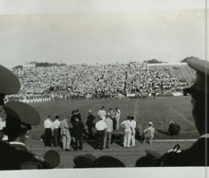 Memorial Stadium in 1936, taken by my grandfather while he was visiting with the LSU band. No luxury boxes, no Fletcher corn dogs.